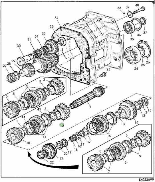 John Deere Syncroplus Transmission Gear Al110972 Al112505