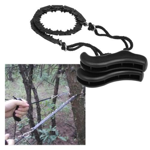 Folding Chain Saw Jagged Chainsaw Manual Steel Wire Saw Hand Camping Hiking Z4U0