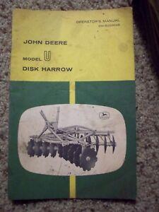 john deere model u disk harrow operator s manual om b25004b ebay rh ebay com John Deere 425 Disk Old John Deere Harrows