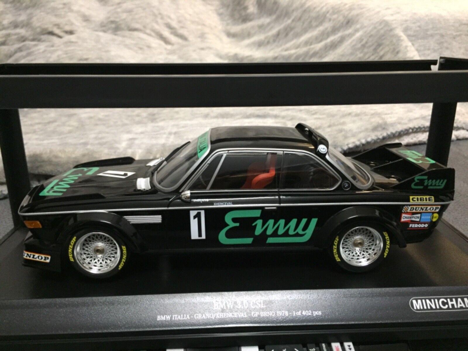 BMW 3.0 CSL BMW ITALIA GP BRNO 1978 1 18 Minichamps