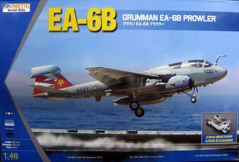 Kinetic  K48044 1 48 EA-6B Prowler (New Wings) with a Three-Wheel Tractor