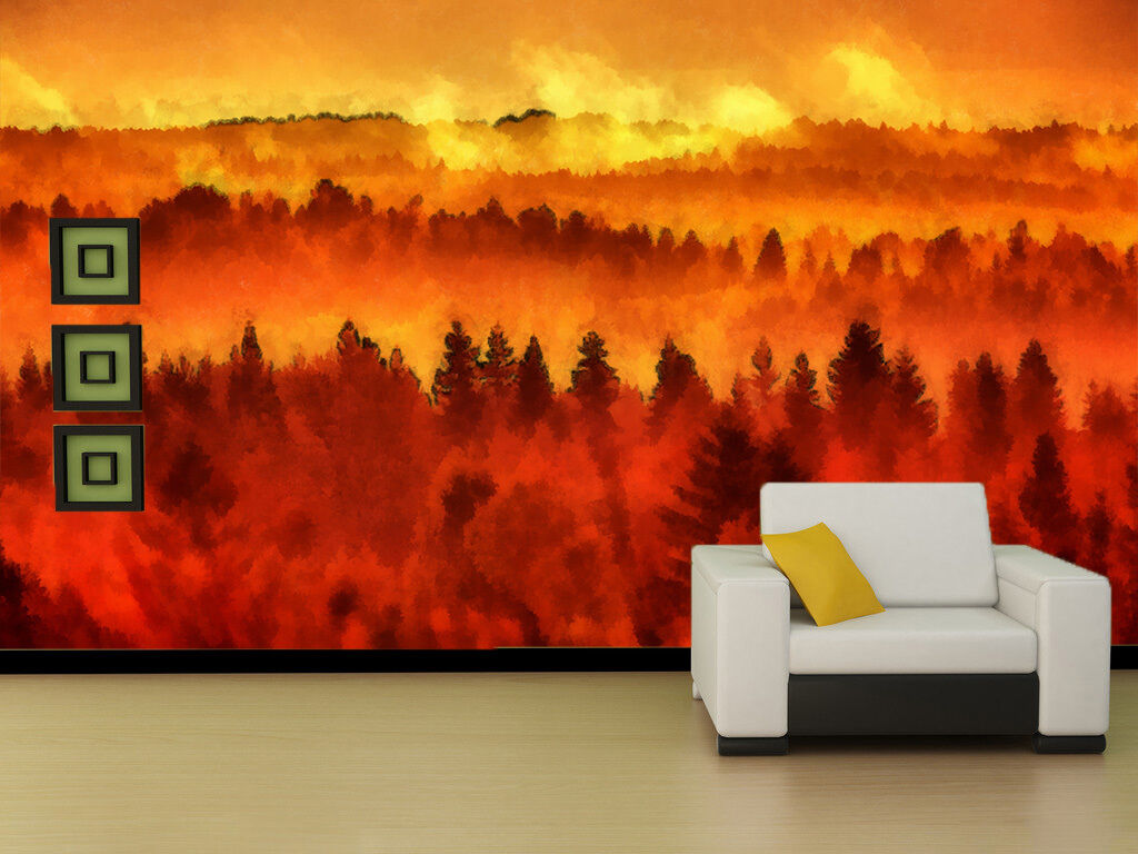 3D ROT Forest paint 3286 Paper Wall Print Decal Wall Wall Mural AJ WALLPAPER GB