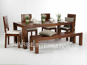 Monalisa Wooden Dining table (5ft approx.) with 4 chairs & 1 Bench furniture set