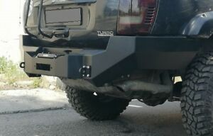 Jeep Grand Cherokee Wj 99 04 Rear Steel Bumper With Winch Plate Off Road Ebay