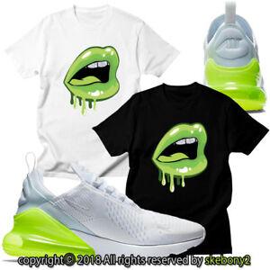 NEW-CUSTOM-T-SHIRT-matching-Nike-Air-Max-270-White-VOLT-AM270-1-4-8