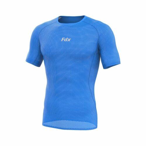 FDX Mens Half Sleeve Cool Mesh Base Layer Lightweight Running Cycling jersey//Top