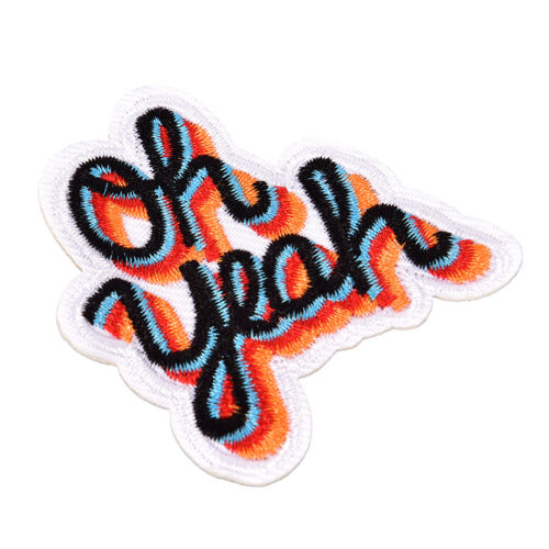 Oh yeah DIY Iron On Patch Embroidered Applique Sewing Label Clothes StickersNIC