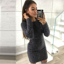 d77b2ebbe8 item 2 Womens Fluffy Mini Dress Long Sleeve Pullover Wrap Sweater Ladies  Party Bodycon -Womens Fluffy Mini Dress Long Sleeve Pullover Wrap Sweater  Ladies ...