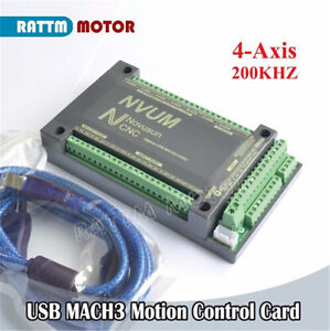 NVUM 4 Axis USB MACH3 Board CNC Motion Controller Card For Stepper/Servo Motor