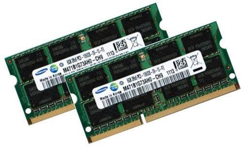 2x 8GB 16GB DDR3 1333 RAM Toshiba Satellite  P750 / P755 Markenspeicher Samsung