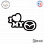 Sticker JDM I Love My Mazda Decal Aufkleber Pegatinas D-179 Couleurs au choix