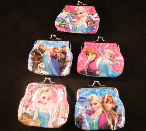 Elsa Disney Frozen Money Purses New /& Vibrant 5 Designs etc Anna Olaf