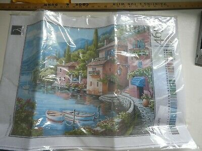 Needlepoint Kit Tapestry  Italian landscape  printed canvas 465
