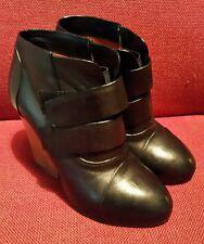 TRUSSARDI black leather women's Ankle heel boot shoes EU 38 UK 5 RRP 334 GBP