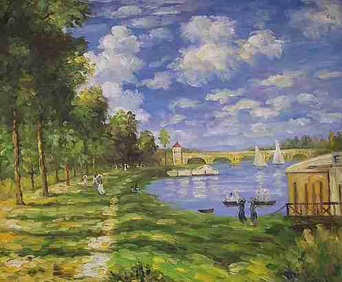 Hafen Argenteuil Keilrahmenbild auf Leinwand Monet