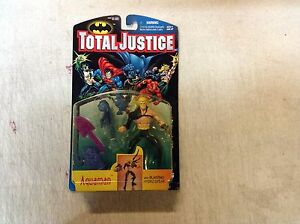 Total Justice Aquaman Kenner Action Figure Toy ON CARD 1996 Hasbro Batman Flash