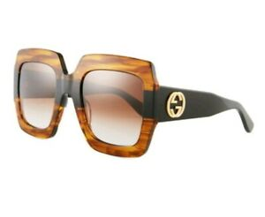 02e80803bee10 Image is loading GUCCI-Oversized-Square-Frame-Havana-Tortoiseshell-Acetate- Sunglasses-
