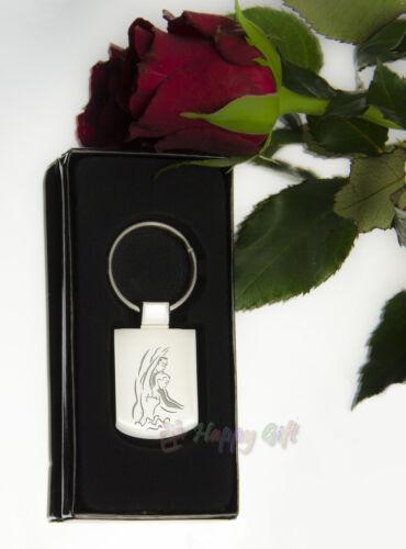 Personalised DANCERS DANCE  Design keyring BOXED engraved Free  Metal Key ring