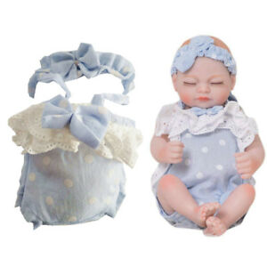 10-11inch-Reborn-Doll-Baby-Girl-Clothes-Lace-Rompers-Bowknot-Headband-2pcs