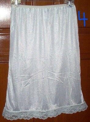 Womens Half Slip White Beige Medium We Hav Anothr Listing Of Slips In Our Store Slips Intimates & Sleep