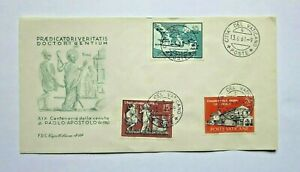 VATICAN-CITY-1961-FIRST-DAY-COVER-3-STAMPS-SET