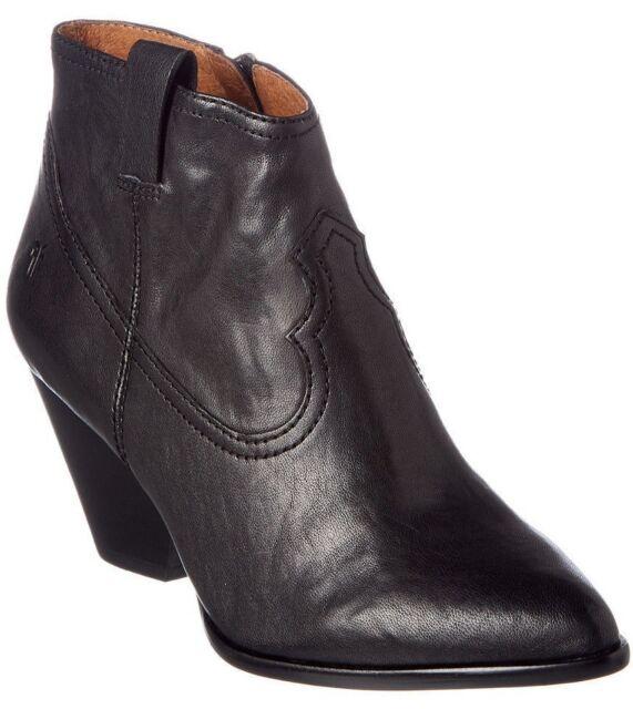 fbb81605ec8 Frye Reina Bootie Leather Western Women's 8 Med Black 3479257 Cowboy ...