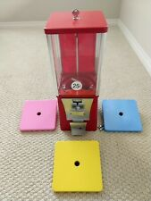 Eagle Red Bulk Vending Machine Gumball Candy Toy Renovated Tested 1 Wheellid
