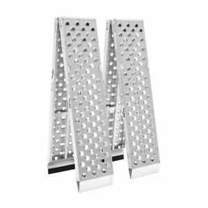 Aluminum Atv Ramps >> Details About 10 X 14 Aluminum Folding Dual Runner Atv Ramps 3 000 Lb Capacity