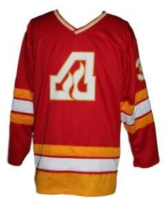Any Name Number Size Atlanta Flames Retro Custom Hockey Jersey Red