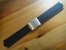 24mm rubber Band Silicone Strap bracelet Buckle (FITS) ORIS TT1 F1 Diver Chron