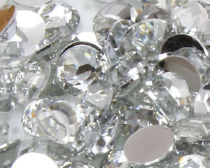 Clear-Crystal-Flat-Back-Nail-Art-Rhinestones-Gems-2MM-6MM-Glitter-Beads