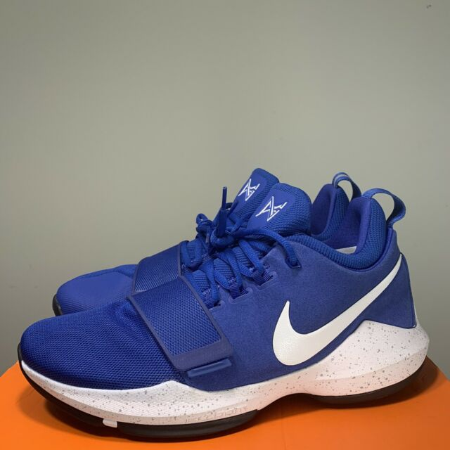 Mens Nike PG 1 Basketball Shoes Size 15 Royal Blue White 878627-400 Paul  George