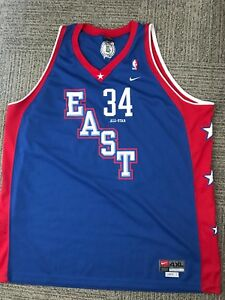 big sale 2bc40 8e2aa Details about RARE PAUL PIERCE 2004 ALL STAR GAME EAST #34 SEWN NIKE BLUE  BASKETBALL