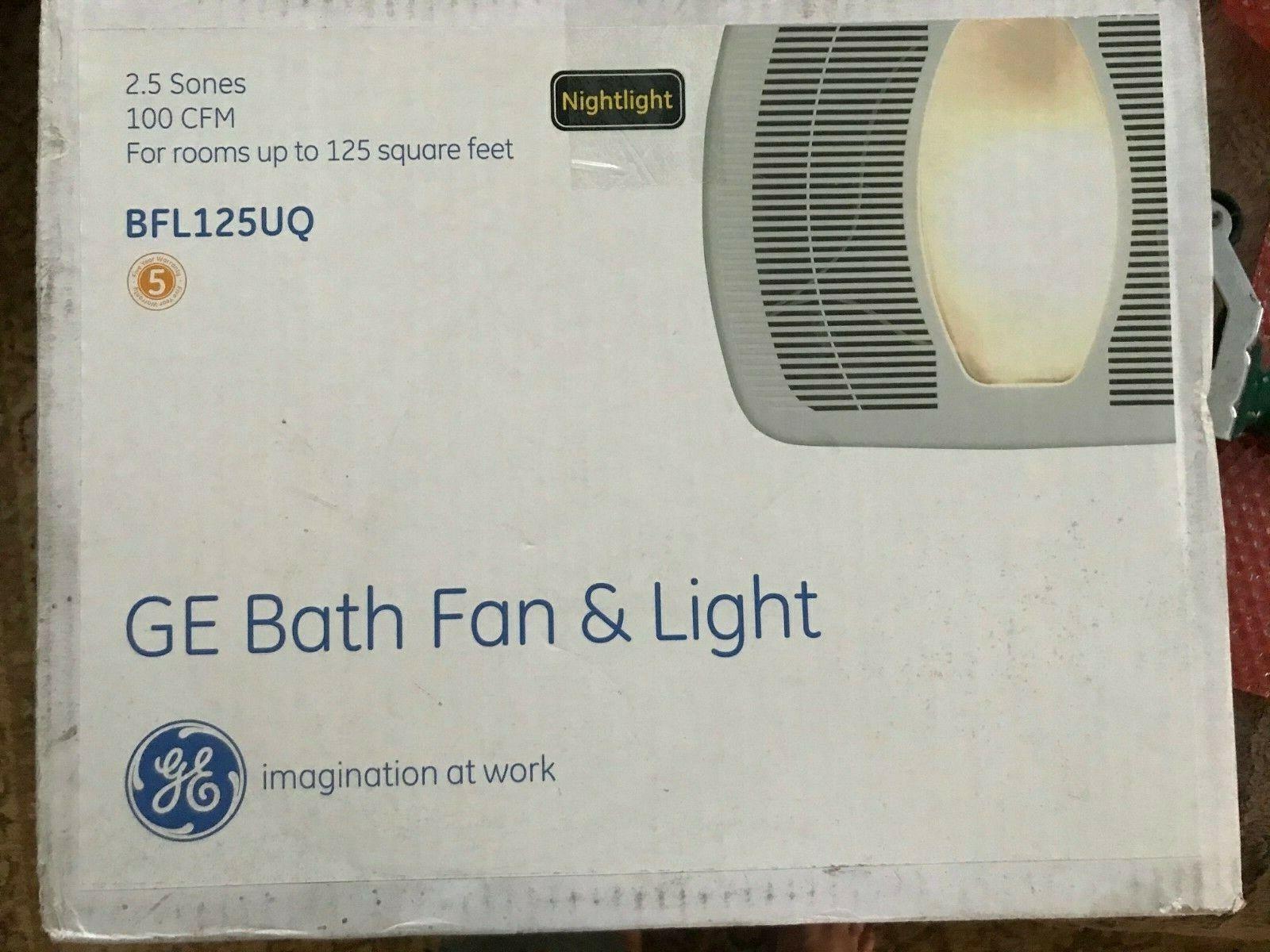 Ge Bathroom Exhaust Fan 130 Cfm Bf130uq White Grille For Sale Online Ebay