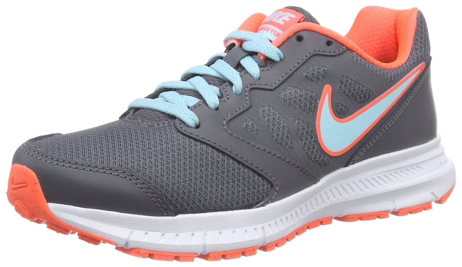 Nike Downshifter 6 Running shoes Dark Grey Copa Hyper orange White 7.5 M US
