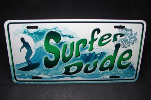 Surfer Dude Neuheit Metall Aluminium Auto Kennzeichen