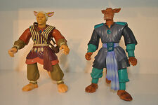 vintage 1996 YUN and TSUN figures job lot/duo  IJL CREA LBEI Warriors of Virtue