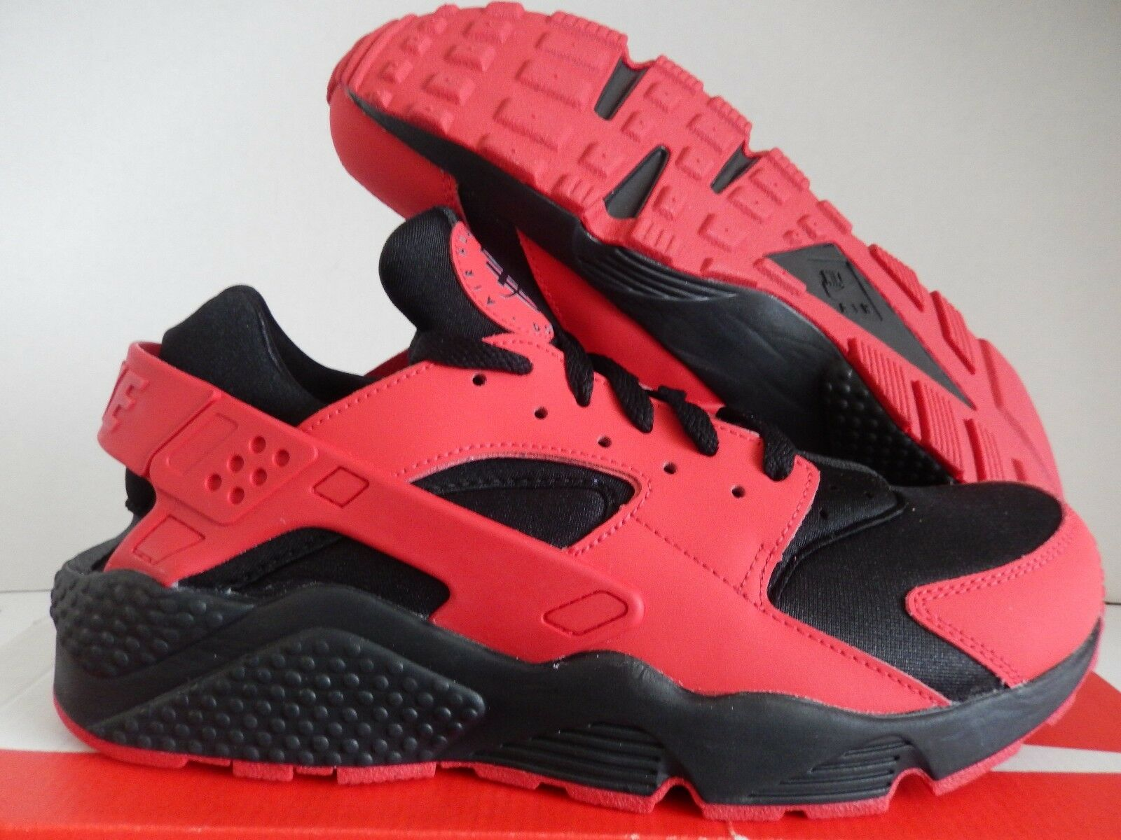 NIKE AIR HUARACHE ID RED-BLACK SZ 10 [777330-978]