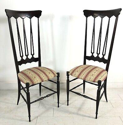 Coppia Sedie Chiavarine Gio Ponti Anni 50 Vintage Chiavari Brass Chair Design Ebay