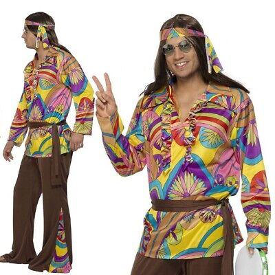 Adattabile Uomo Anni 60 Psichedelico Hippy Costume Uomo 60 Hippie Costume Smiffys