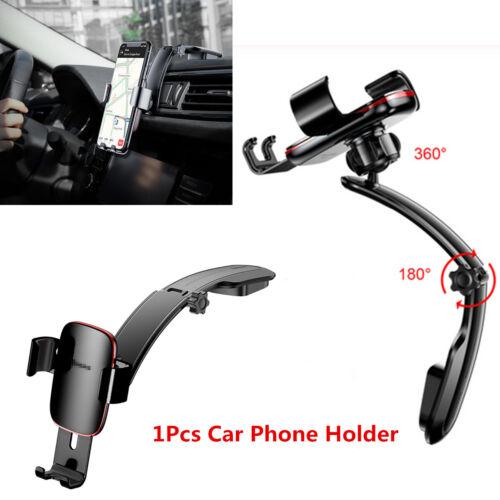"""360° Aluminum Car Dashboard Mount Cradle Holder Bracket For 4/""""-6/"""" Mobile Phones"""