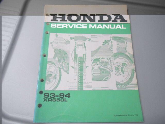 Honda Service Manual W   Wiring Diagram 1993 1994 Xr650l