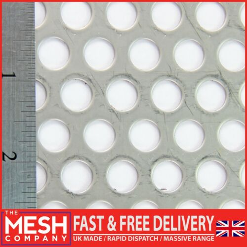 10mm Hole x 15mm Pitch x 1.5mm Thick SS304 Round Perforated Mesh Sheet Plate