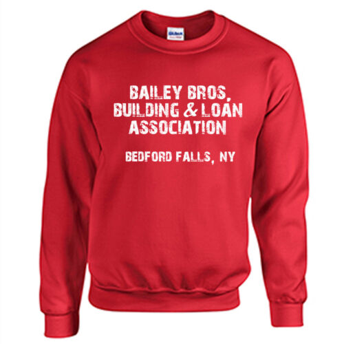 Bailey Bros Sweatshirt Christmas Holiday Sweater It/'s A Wonderful LIfe Red