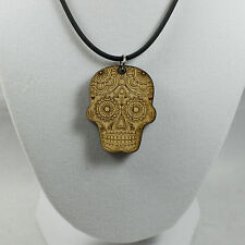 Sugar Skull Necklace (PENDANT ONLY) - Wood