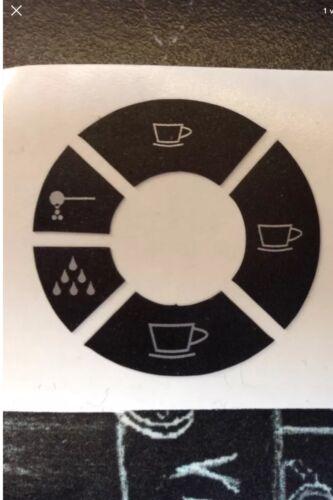 Jura Impressa C9 One Touch Zero Energy Tastensymbol Aufkleber Sticker 2.Gen.