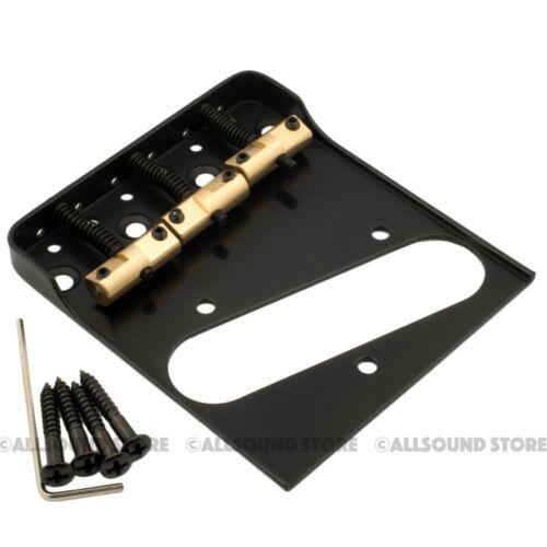 Wilkinson Telecaster Bridge w// Cut-Down Sides /& Compensated Brass Saddles Tele