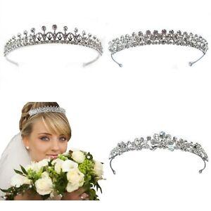 Luxus Strass Diadem Tiara Hochzeit Braut Neu Ebay