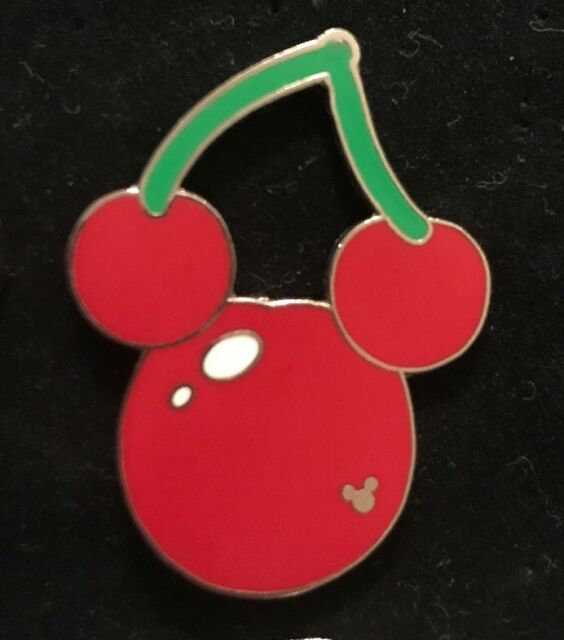 Disney WDW Hidden Mickey Cherry Trading Pin Food Fun Icons Ears Fruit 2008