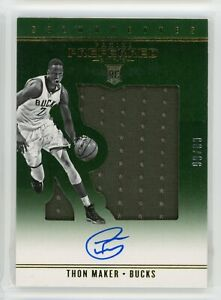 2016-17-Thon-Maker-99-99-Auto-Jersey-Panini-Preferred-Rookie-RC-25-Silhouettes
